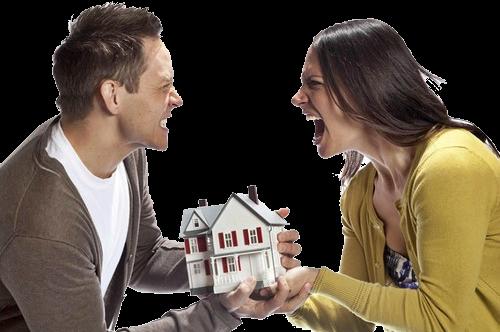 Супруги делят дом