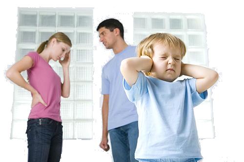 Ребенок при семейной ссоре