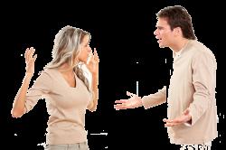 Семейная ссора мужа и жены
