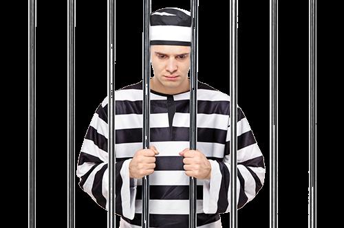 Заключенный за решеткой